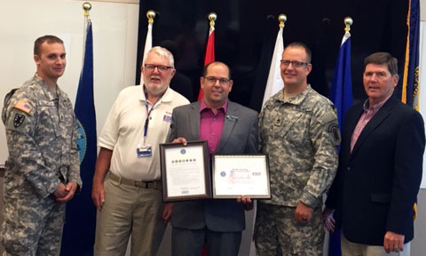 Keasling Receives Patriotic Employer Award