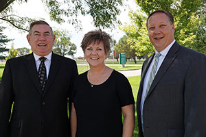 Dr. Greg Smith, Dr. Kathy Fuchser and Dr. Matt Gotschall