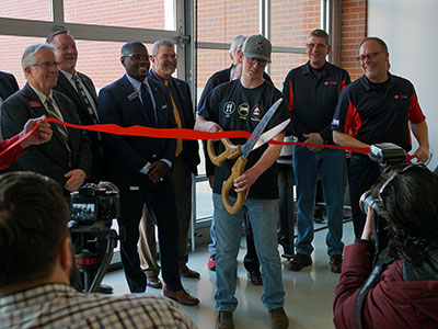 Ribbon Cutting by AMDT Student