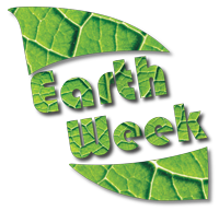 Earth Week leaf graphic