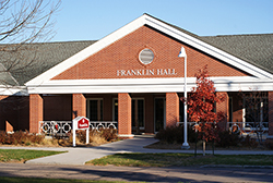 Outside view of Hastings Campus Franklin Hall