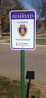 Purple Heart Recipient Parking sign