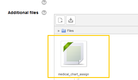 Screenshot of Attached File Circled in the Additional Files Area